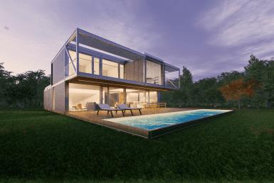 Casa prefabriada modular 2 plantas met lica dise o passivhaus casa pasiva 1 min